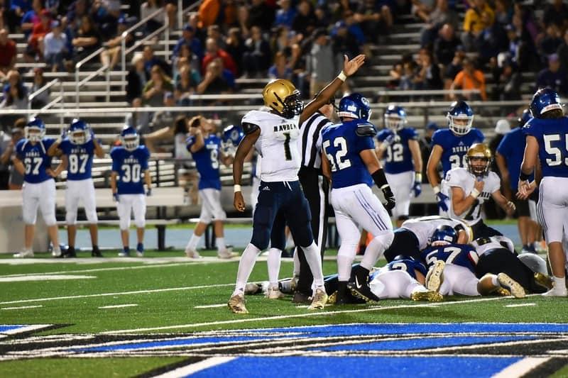 Hayden football team tackling